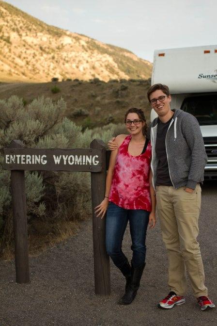 Entering Wyoming